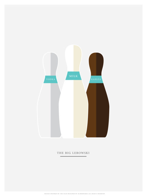 The Big lebowski minimal poster design printing