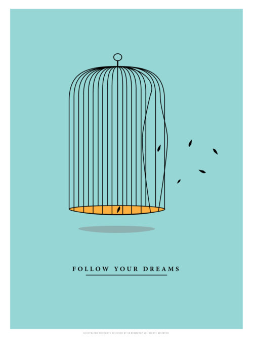 decor minimalism minimal poster print vinyl music follow your dreams