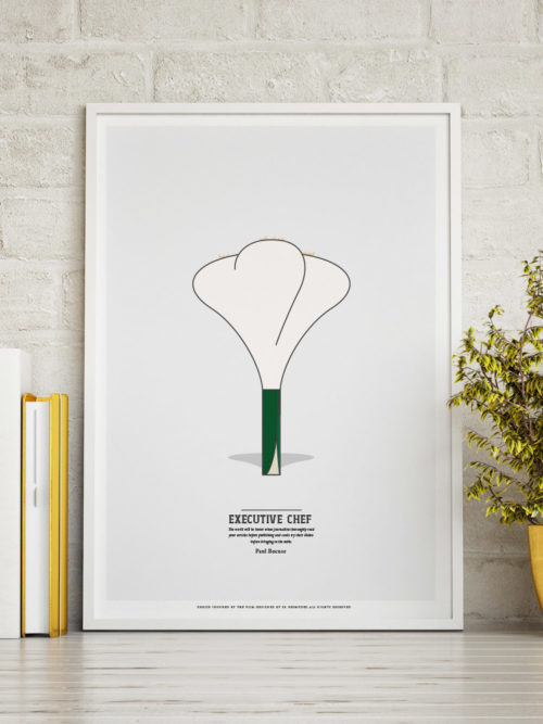 executive chef minimal print paul bocuse onion