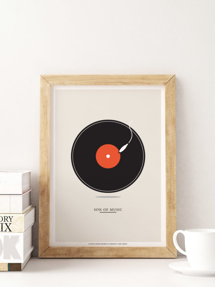 decor minimalism minimal poster print vinyl music son of music
