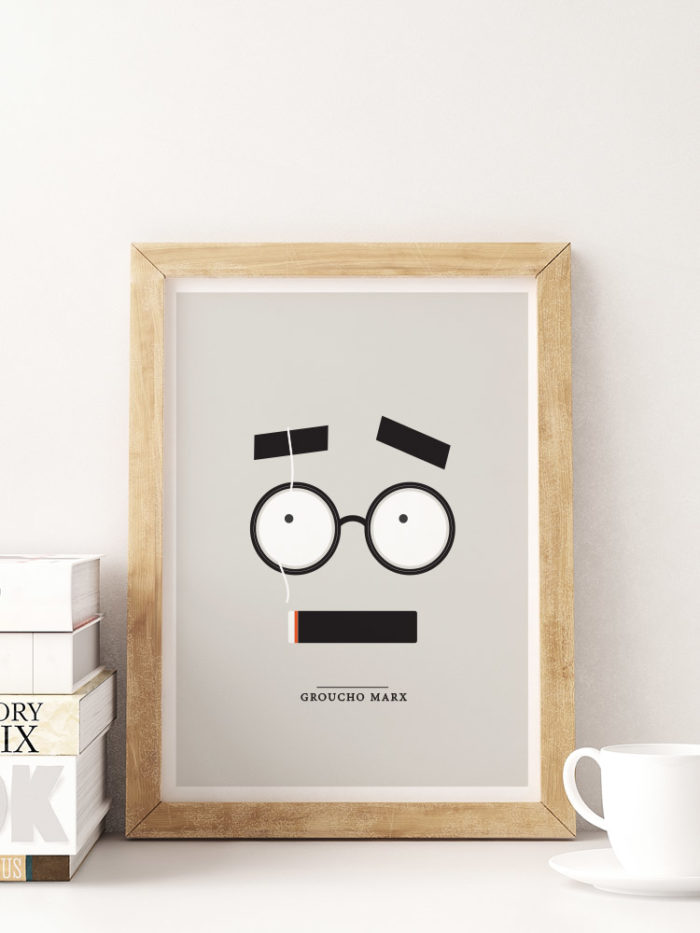 groucho marx minimal print film design