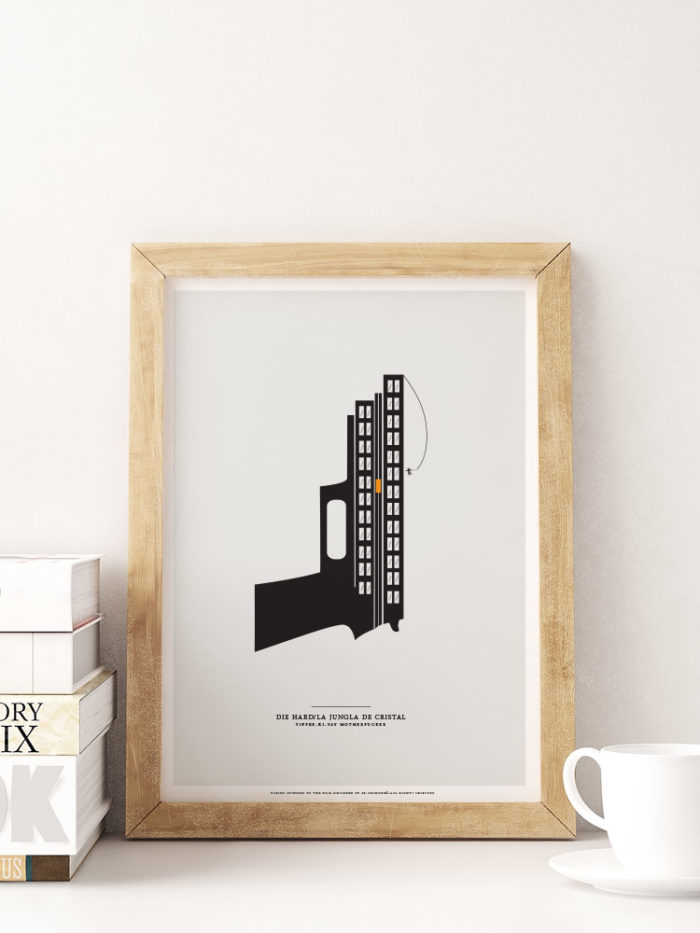 minimal design die hard print illustration