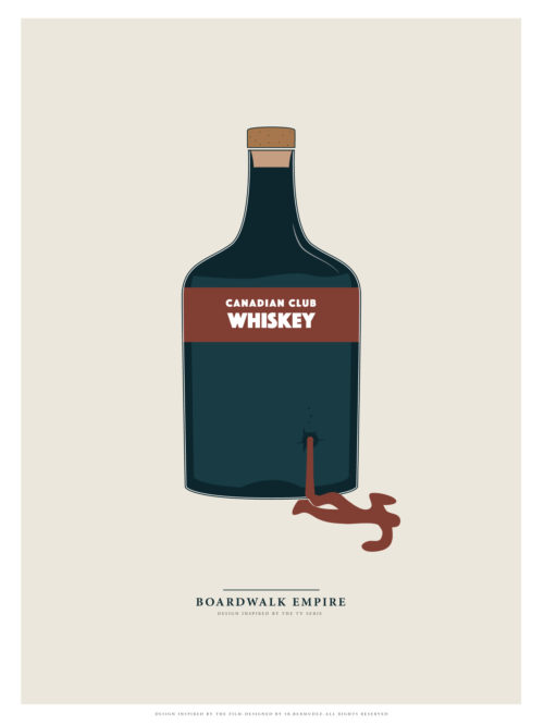 minimalism minimal poster print boardwalk empire