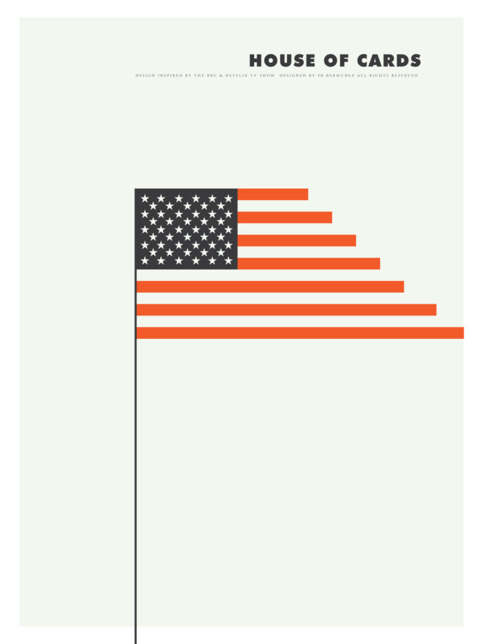 minimalism minimal house of cards poster print