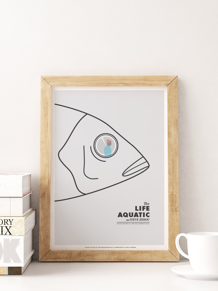 minimalism minimal poster the life aquatic print wes anderson