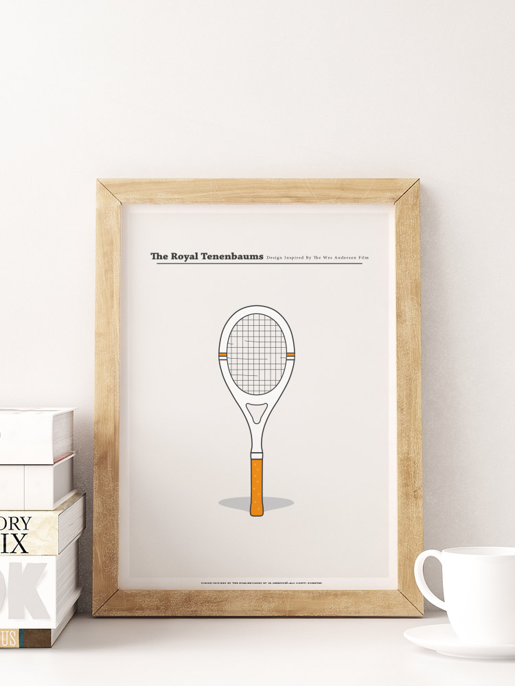 the royal tenenbaums minimal print wes anderson